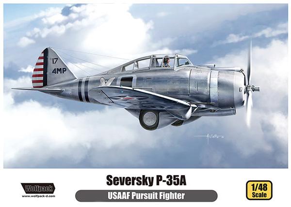 セバスキー P-35A USAAFプラモデル(ウルフパックウルフパックデザイン プレミアムエディションキットNo.WP14808)商品画像