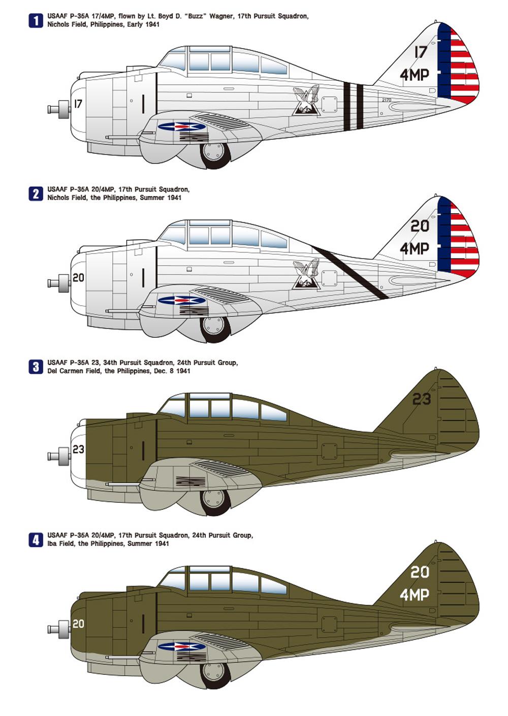セバスキー P-35A USAAFプラモデル(ウルフパックウルフパックデザイン プレミアムエディションキットNo.WP14808)商品画像_3