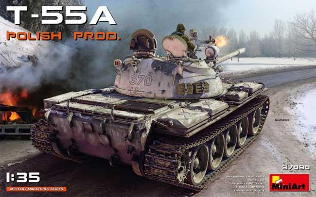 T-55A ポーランド製プラモデル(ミニアート1/35 ミリタリーミニチュアNo.37090)商品画像