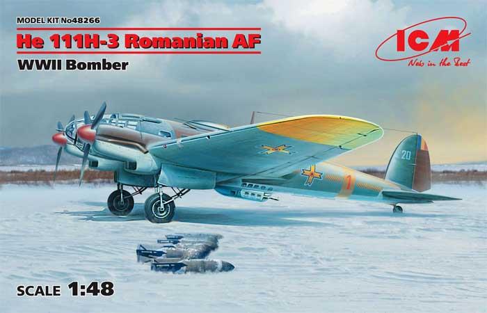 ハインケル He111H-3 ルーマニア空軍プラモデル(ICM1/48 エアクラフト プラモデルNo.48266)商品画像