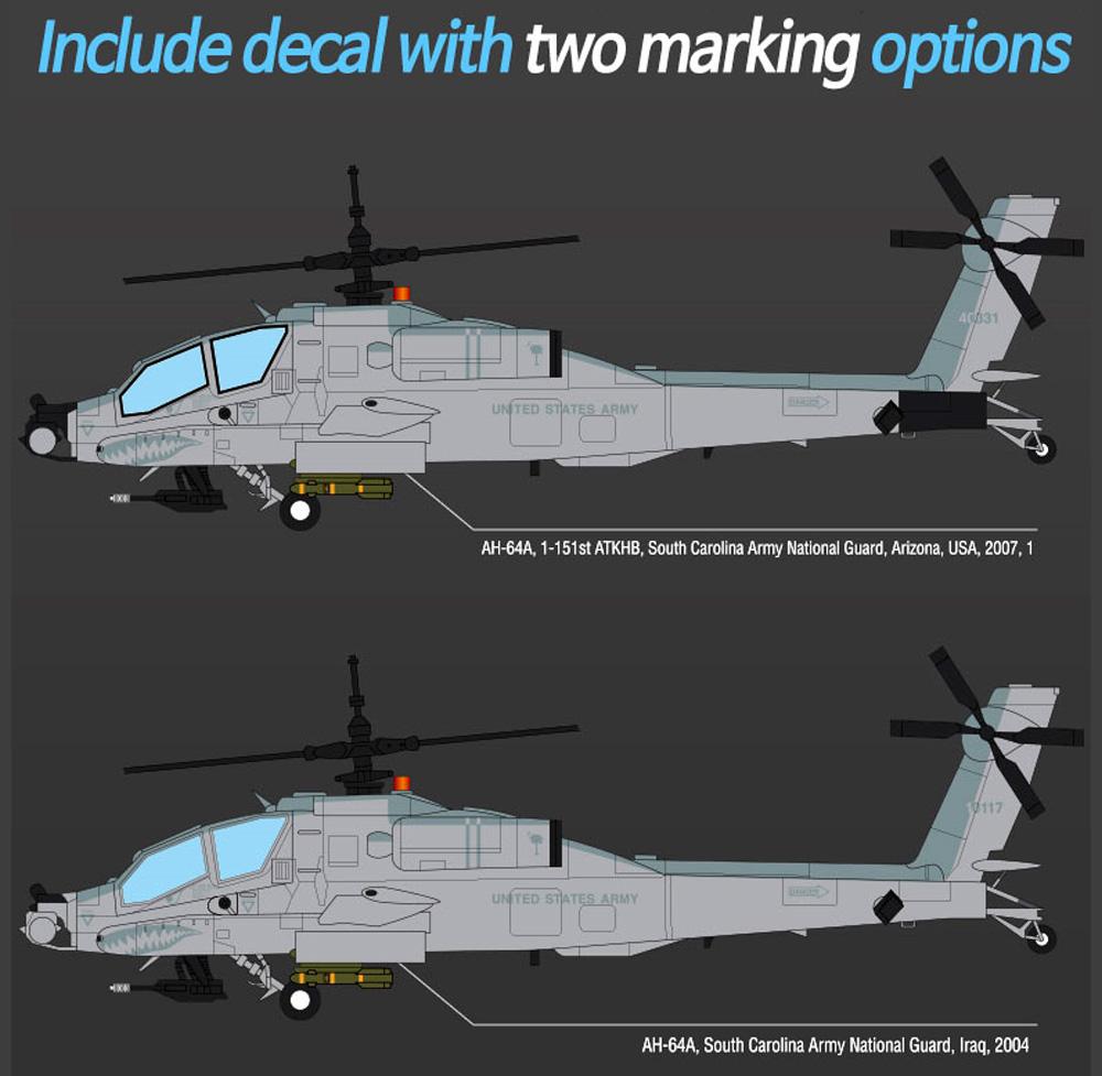 AH-64A アパッチ サウスカロライナ ANGプラモデル(アカデミー1/35 AircraftNo.12129)商品画像_2