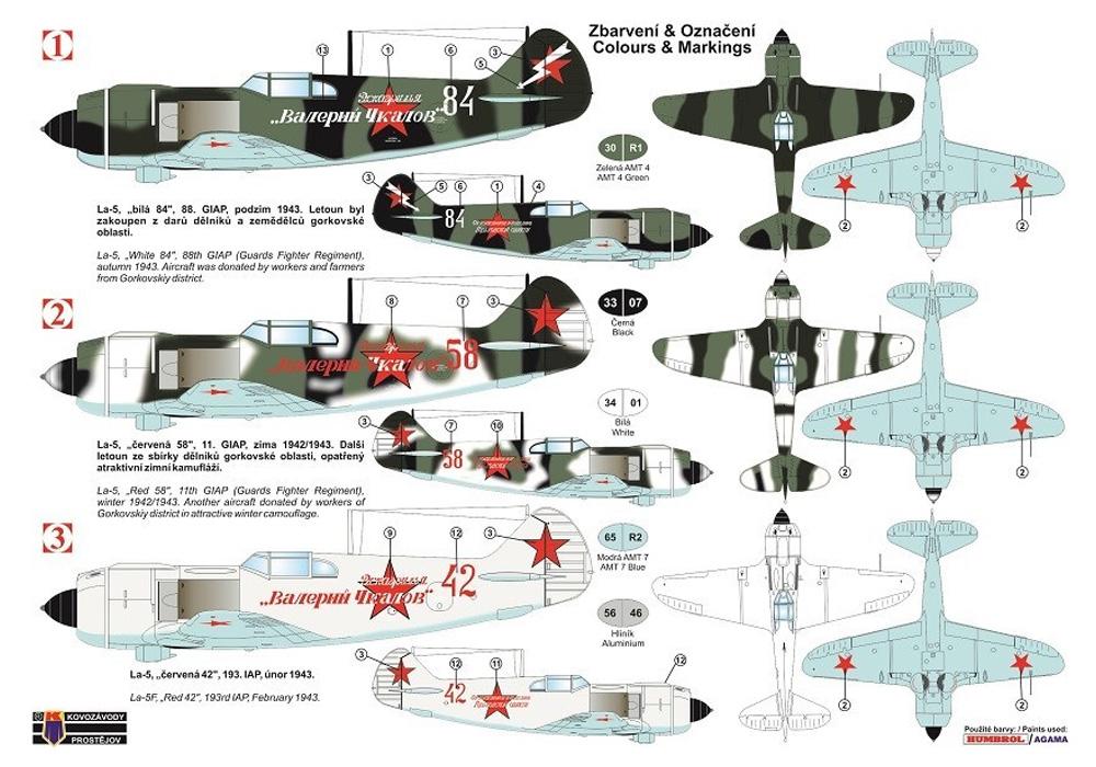 ラボチキン La-5 ヴァレリー・チカロフプラモデル(KPモデル1/72 エアクラフト プラモデルNo.KPM0172)商品画像_1