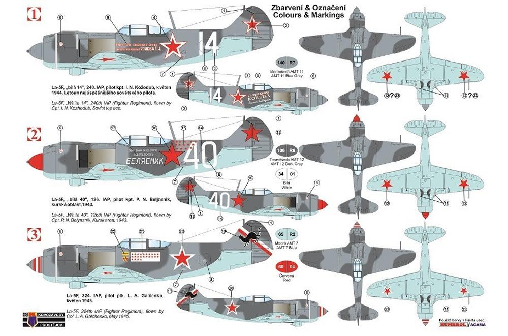 ラボーチキン La-5F エースパイロットプラモデル(KPモデル1/72 エアクラフト プラモデルNo.KPM0175)商品画像_1