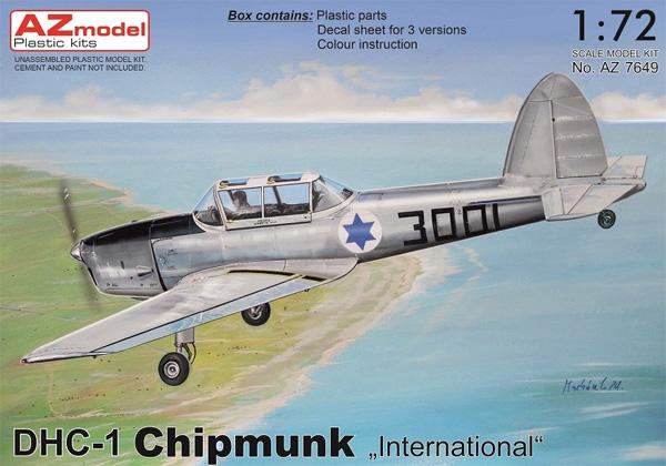 DHC-1 チップマンク 海外仕様プラモデル(AZ model1/72 エアクラフト プラモデルNo.AZ7649)商品画像