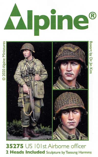 WW2 アメリカ 第101空挺師団 士官レジン(アルパイン1/35 フィギュアNo.35275)商品画像