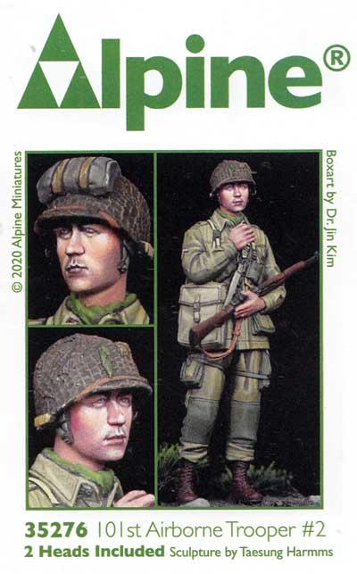 WW2 アメリカ 第101空挺師団 兵士 #2レジン(アルパイン1/35 フィギュアNo.35276)商品画像