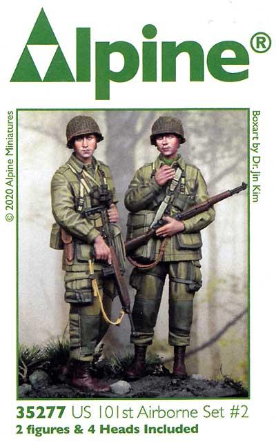 WW2 アメリカ 第101空挺師団 兵士セット#2 (2体セット)レジン(アルパイン1/35 フィギュアNo.35277)商品画像