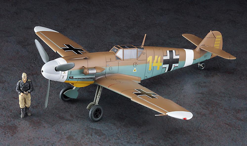 メッサーシュミット Bf109F-4 Trop アフリカの星 (マルセイユ) w/フィギュアプラモデル(ハセガワ1/48 飛行機 限定生産No.07491)商品画像_3