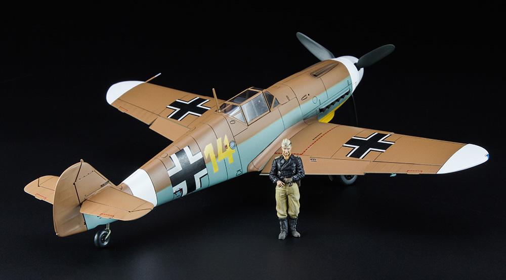メッサーシュミット Bf109F-4 Trop アフリカの星 (マルセイユ) w/フィギュアプラモデル(ハセガワ1/48 飛行機 限定生産No.07491)商品画像_4