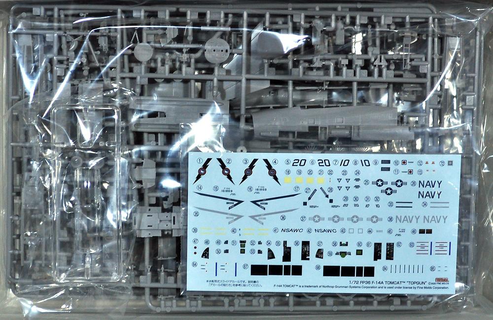 F-14A トムキャット トップガンプラモデル(ファインモールド1/72 航空機No.FP036)商品画像_1