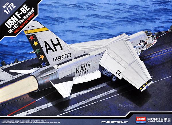 アメリカ海軍 F-8E クルセイダー VF-162 ザ・ハンターズプラモデル(アカデミー1/72 Scale AircraftsNo.12521)商品画像