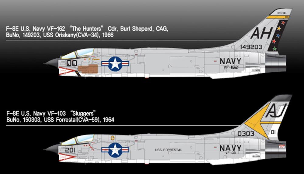 アメリカ海軍 F-8E クルセイダー VF-162 ザ・ハンターズプラモデル(アカデミー1/72 Scale AircraftsNo.12521)商品画像_2