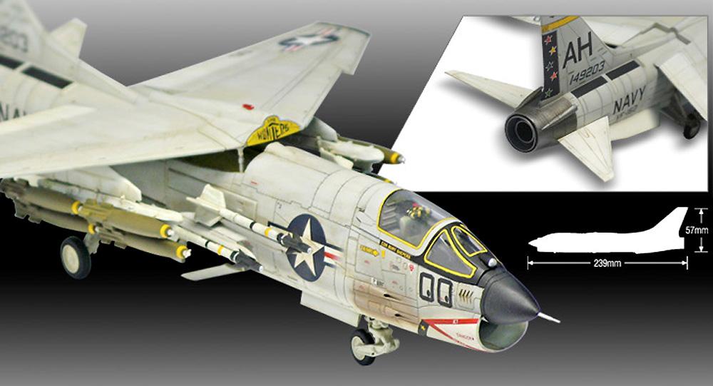 アメリカ海軍 F-8E クルセイダー VF-162 ザ・ハンターズプラモデル(アカデミー1/72 Scale AircraftsNo.12521)商品画像_4
