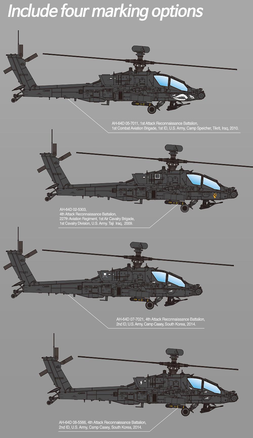 アメリカ陸軍 AH-64D アパッチ ブロック 2 後期型プラモデル(アカデミー1/72 AircraftsNo.12551)商品画像_2