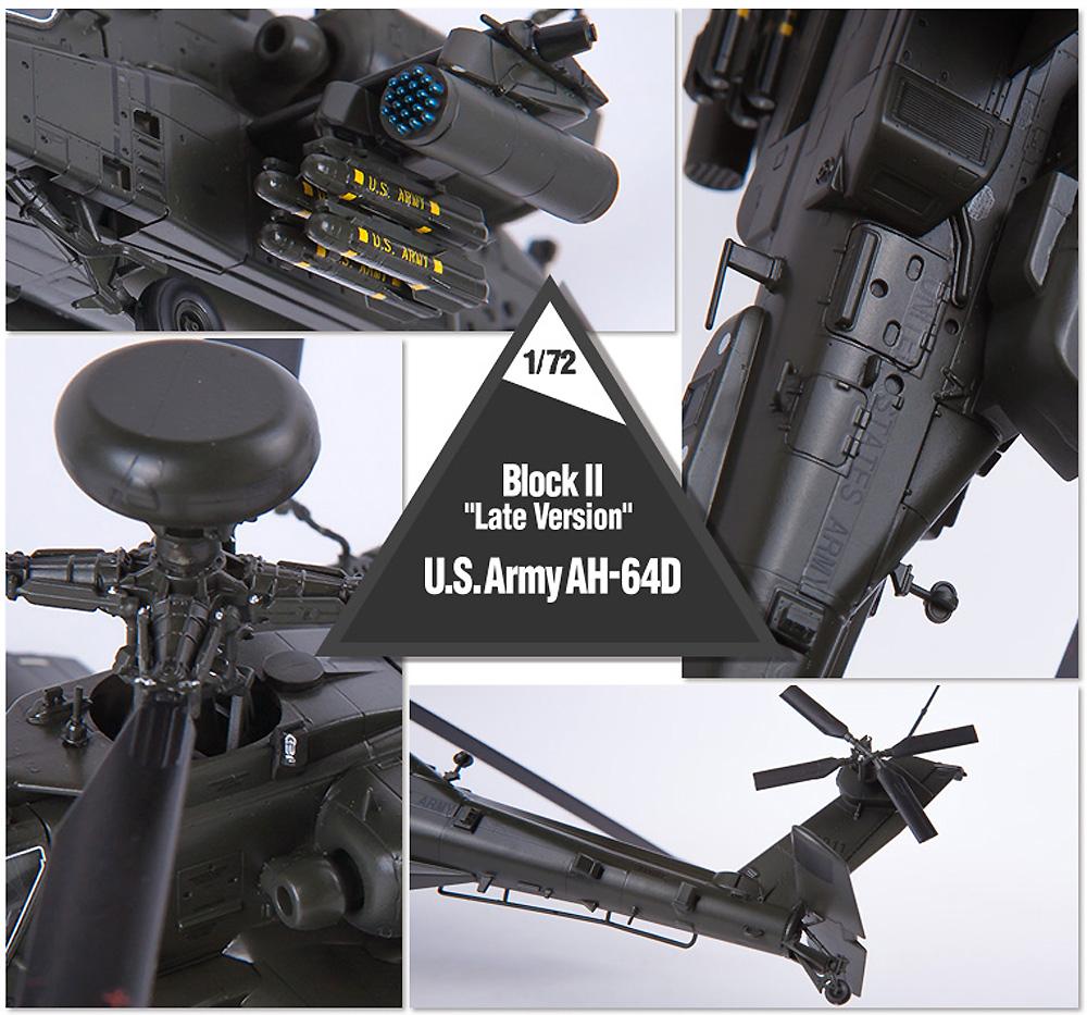 アメリカ陸軍 AH-64D アパッチ ブロック 2 後期型プラモデル(アカデミー1/72 AircraftsNo.12551)商品画像_3