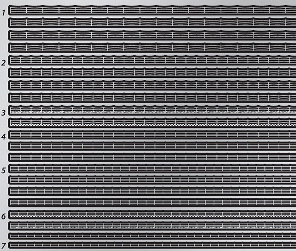 WW2 アメリカ海軍 手すり (0.1mm)エッチング(テトラモデルワークス艦船 エッチングパーツNo.SA-70015)商品画像_2