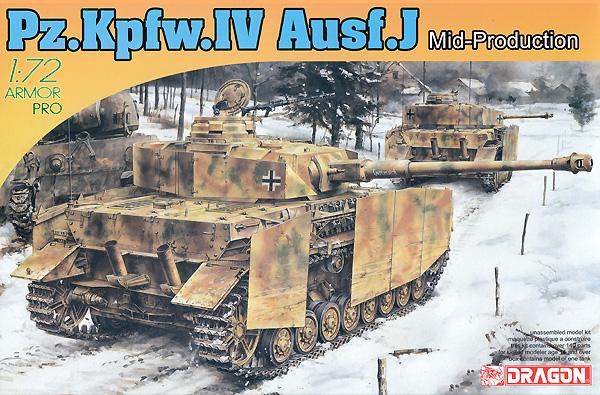Pz.Kpfw.4 4号戦車J型 中期生産型プラモデル(ドラゴン1/72 ARMOR PRO (アーマープロ)No.7498)商品画像