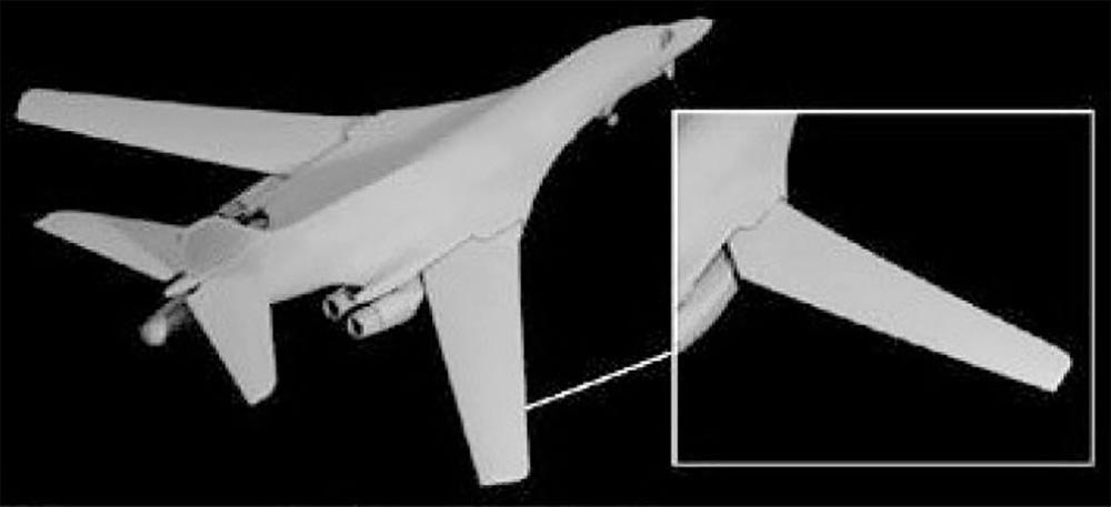 アメリカ空軍 戦略爆撃機 B-1B ランサープラモデル(ドラゴン1/144 ウォーバーズ (プラキット)No.4624)商品画像_2