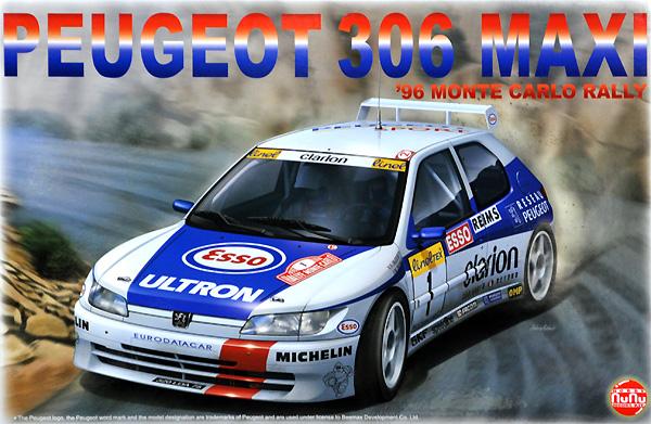 プジョー 306 マキシ 1996 モンテカルロラリープラモデル(NuNu1/24 レーシングシリーズNo.PN24009)商品画像