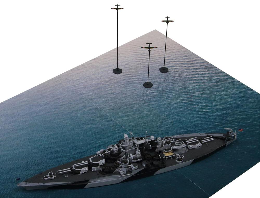 マリアナ諸島の戦い (BB-43 テネシー VS 日本海軍航空隊)プラモデル(ピットロードスカイウェーブ S シリーズNo.SPS005)商品画像_3
