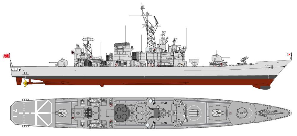 海上自衛隊 護衛艦 DDG-171 はたかぜ エッチングパーツ付 限定版プラモデル(ピットロード1/700 スカイウェーブ J シリーズNo.J086E)商品画像_1