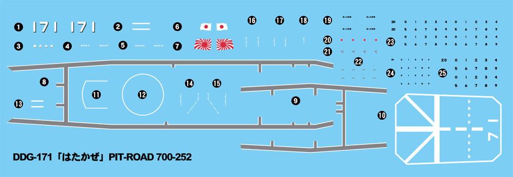 海上自衛隊 護衛艦 DDG-171 はたかぜ エッチングパーツ付 限定版プラモデル(ピットロード1/700 スカイウェーブ J シリーズNo.J086E)商品画像_4