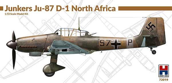 ユンカース Ju87D-1 スツーカ 北アフリカ戦線プラモデル(HOBBY 20001/72 モデルキットNo.72019)商品画像
