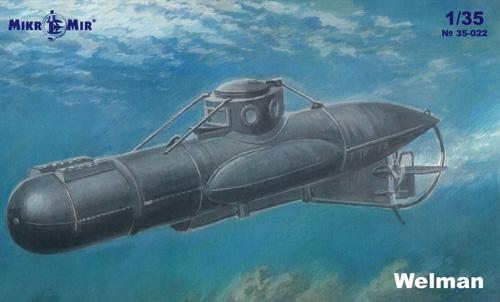 ウェルマン W10 特殊潜航艇プラモデル(ミクロミル1/35 艦船モデルNo.35-022)商品画像