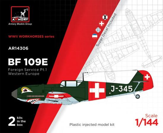 メッサーシュミット Bf109E フォーリンサービス パート1 西ヨーロッパプラモデル(ARMORY1/144 エアクラフトNo.AR14306)商品画像