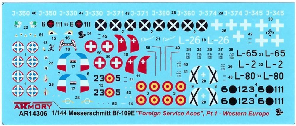 メッサーシュミット Bf109E フォーリンサービス パート1 西ヨーロッパプラモデル(ARMORY1/144 エアクラフトNo.AR14306)商品画像_2