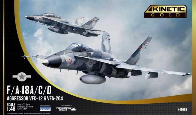F/A-18A/C/D ホーネット VFC-12 & VFA-204 アグレッサープラモデル(キネティック1/48 エアクラフト プラモデルNo.K48088)商品画像