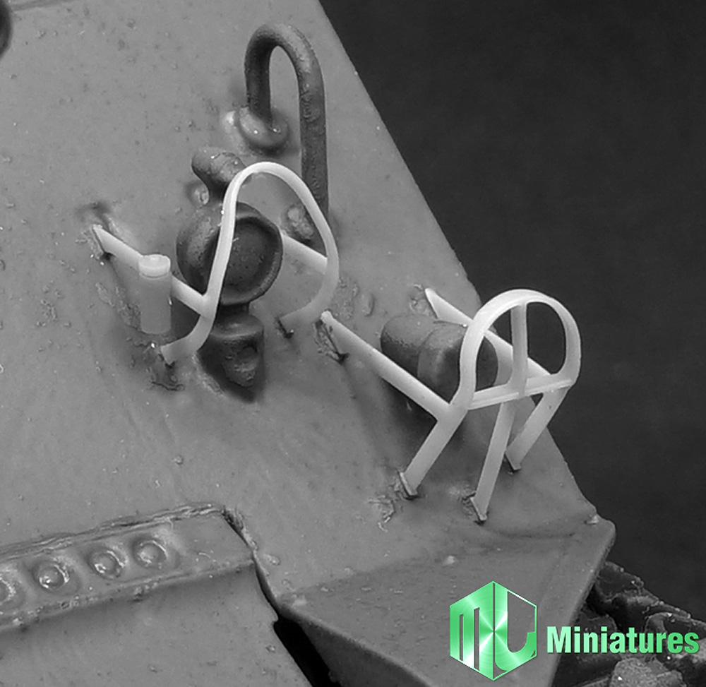 1/35 M4シャーマン戦車用 ライトガードセットプラモデル(MJ ミニチュア3Dプリンタ キットNo.MJEZ35004)商品画像_3