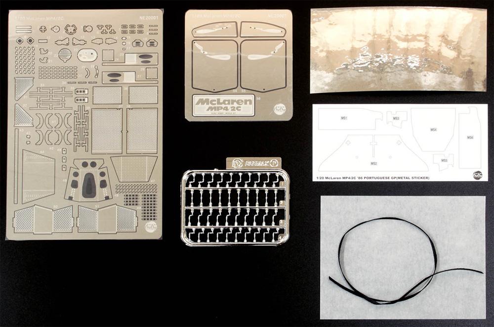 マクラーレン MP4/2C 1986 ポルトガルGP用 ディテールアップパーツエッチング(NuNuディテールアップパーツシリーズNo.NE20001)商品画像_1