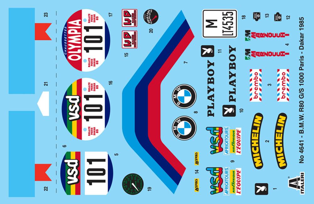 BMW R80G/S 1000 1985 パリ・ダカールラリー (日本語版組立説明書付属)プラモデル(イタレリ1/9 モーターサイクルNo.4641)商品画像_2