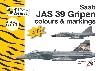 サーブ JAS39 グリペン カラー & マーキング 1/144デカール付き