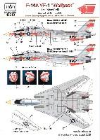 F-14A トムキャット VF-1 ウルフパック USS エンタープライズ デカール