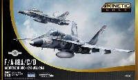 キネティック1/48 エアクラフト プラモデルF/A-18A/C/D ホーネット VFC-12 & VFA-204 アグレッサー