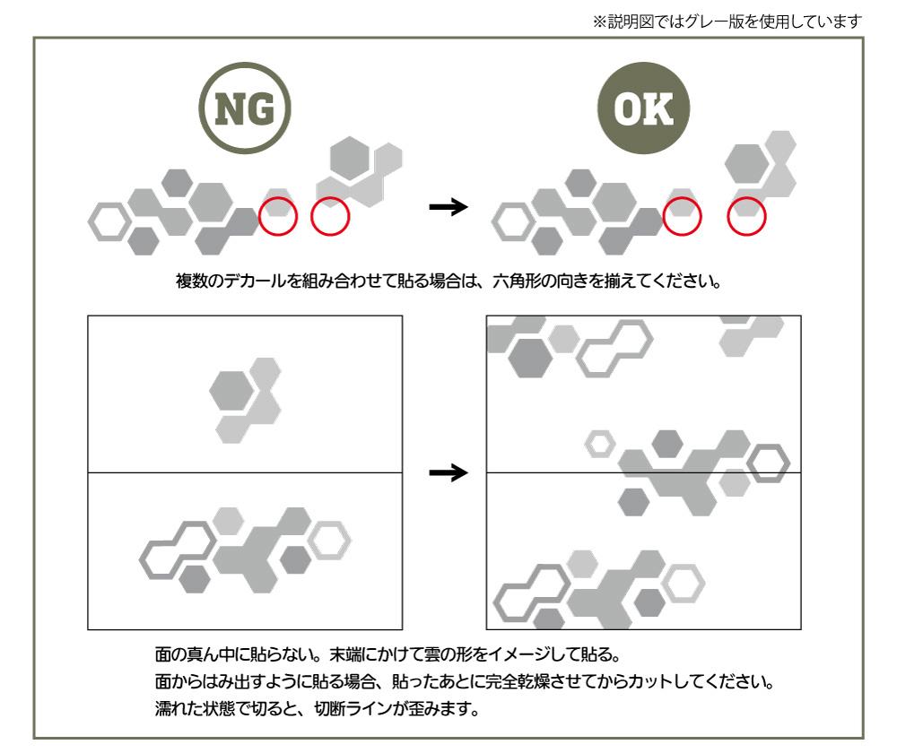 ヘックス迷彩用デカール 2 グレーデカール(HIQパーツパーツ・デカールNo.HEXC2-GRE)商品画像_3
