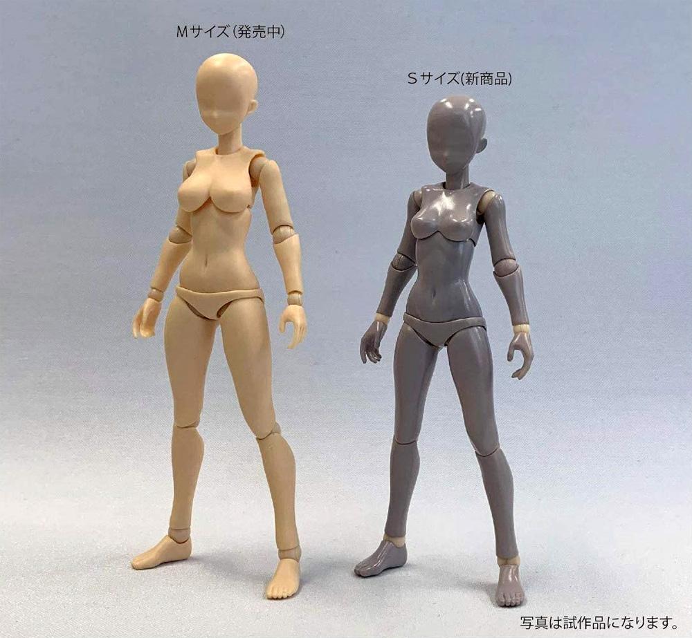 素材ちゃん Sサイズ ライトフレッシュフィギュア(ホビーベース間接技EXNo.PPC-T067)商品画像_3