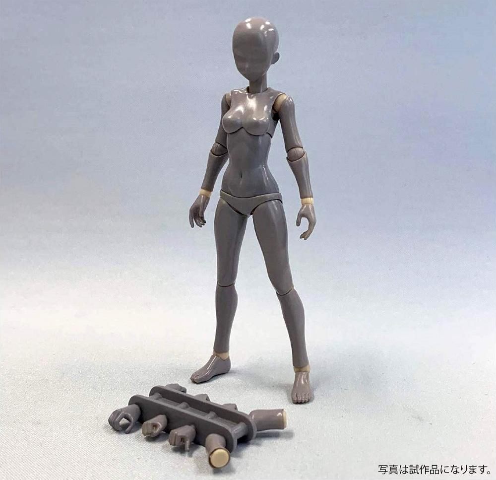 素材ちゃん Sサイズ 褐色フィギュア(ホビーベース間接技EXNo.PPC-T068)商品画像_2