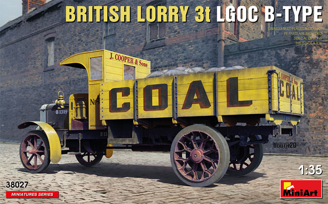 イギリス 貨物自動車 3トン LGOC Bタイププラモデル(ミニアート1/35 ミニチュアシリーズNo.38027)商品画像