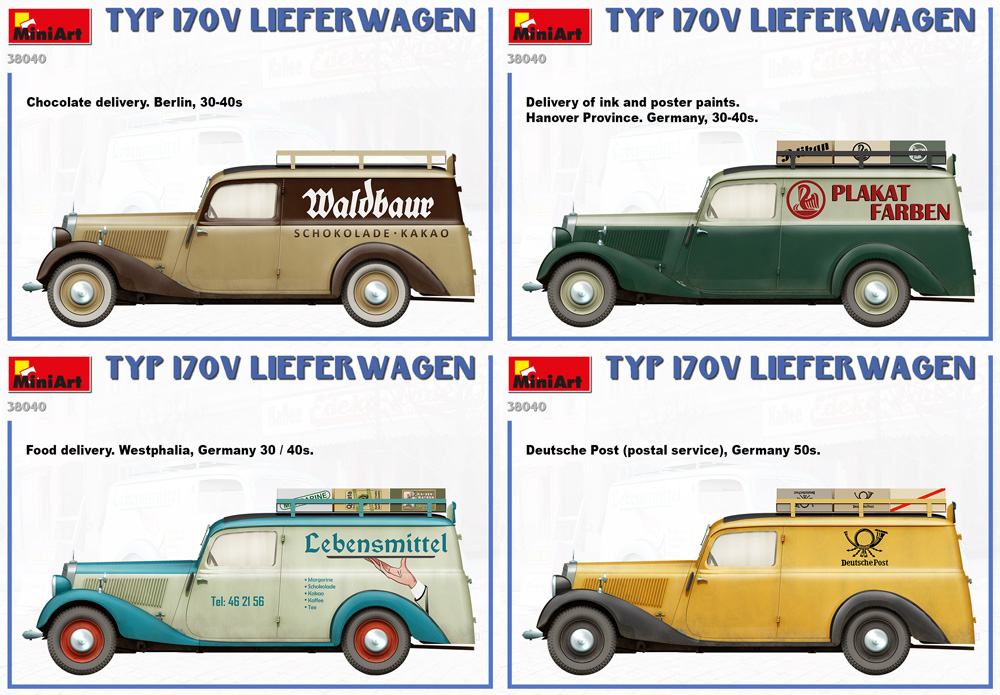 TYP 170V リーファーワーゲンプラモデル(ミニアート1/35 ミニチュアシリーズNo.38040)商品画像_1