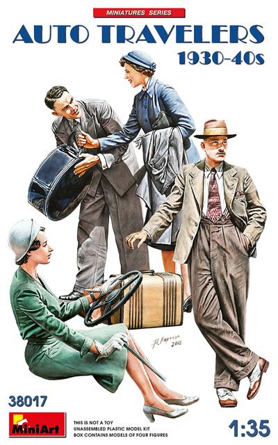 自動車で旅行する民間人 1930-40年代プラモデル(ミニアート1/35 ミニチュアシリーズNo.38017)商品画像