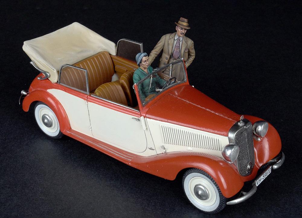 自動車で旅行する民間人 1930-40年代プラモデル(ミニアート1/35 ミニチュアシリーズNo.38017)商品画像_2