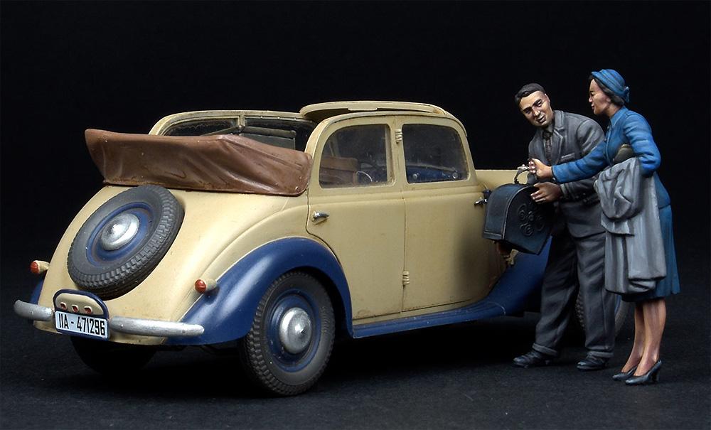 自動車で旅行する民間人 1930-40年代プラモデル(ミニアート1/35 ミニチュアシリーズNo.38017)商品画像_3