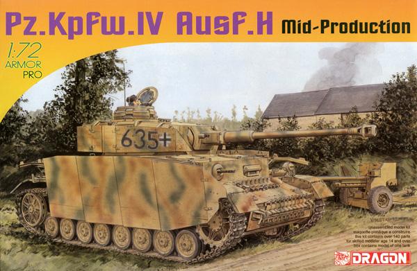 ドイツ 4号戦車H型 中期生産型プラモデル(ドラゴン1/72 ARMOR PRO (アーマープロ)No.7279)商品画像
