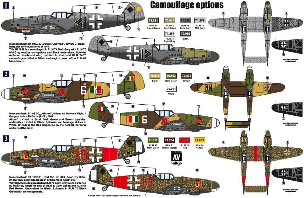メッサーシュミット Bf109Z-2 試作双発夜間戦闘機プラモデル(レトロウイングス1/72 ミリタリーNo.RTW7201)商品画像_1