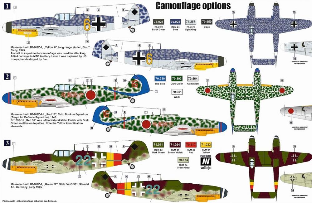 メッサーシュミット Bf109Z-1 試作双発戦闘機プラモデル(レトロウイングス1/72 ミリタリーNo.RTW7202)商品画像_1