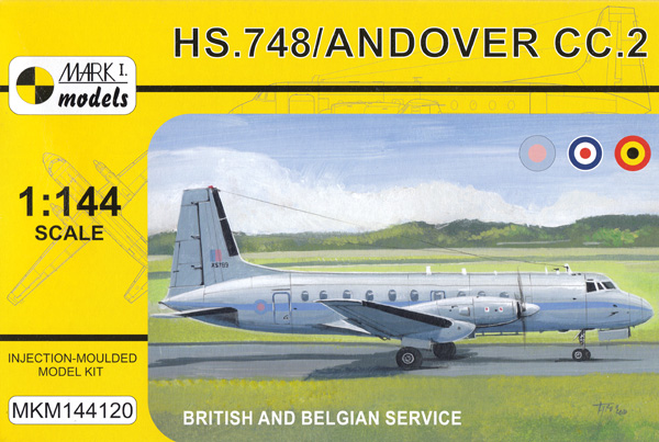 HS.748 / アンドーヴァー CC.2 戦術輸送機 イギリス・ベルギープラモデル(MARK 1ミリタリー インジェクションキットNo.MKM144120)商品画像