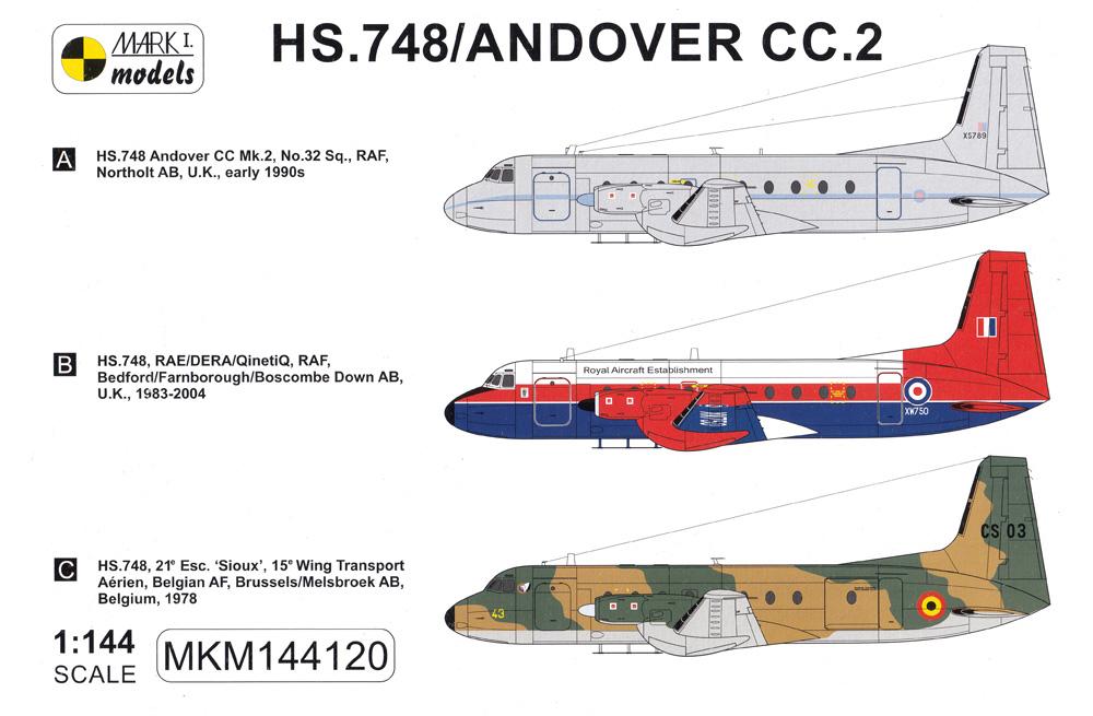 HS.748 / アンドーヴァー CC.2 戦術輸送機 イギリス・ベルギープラモデル(MARK 1ミリタリー インジェクションキットNo.MKM144120)商品画像_1